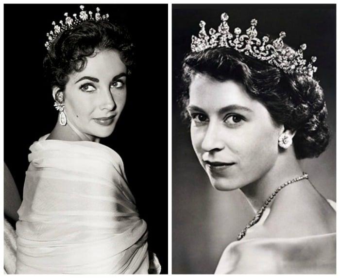 elizabeth taylor - queen elizabeth II - diamonds