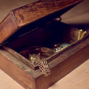 wooden jewellery box for gold jewellery